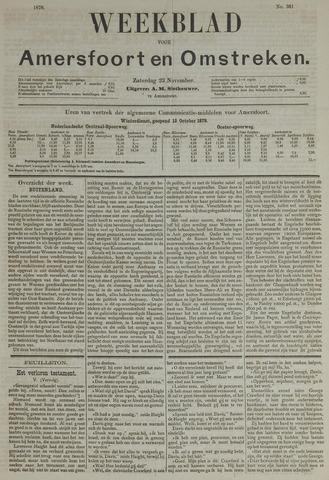 Weekblad voor Amersfoort en Omstreken 1878-11-23