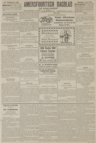 Amersfoortsch Dagblad / De Eemlander 1926-06-07