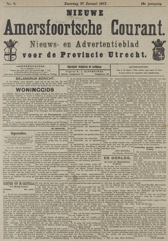 Nieuwe Amersfoortsche Courant 1917-01-27