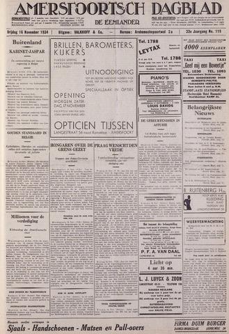 Amersfoortsch Dagblad / De Eemlander 1934-11-16