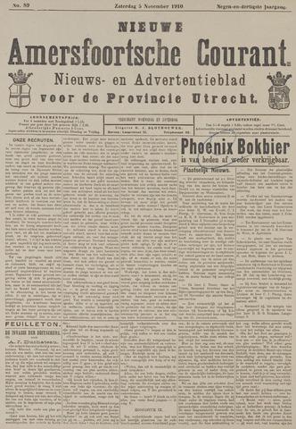 Nieuwe Amersfoortsche Courant 1910-11-05