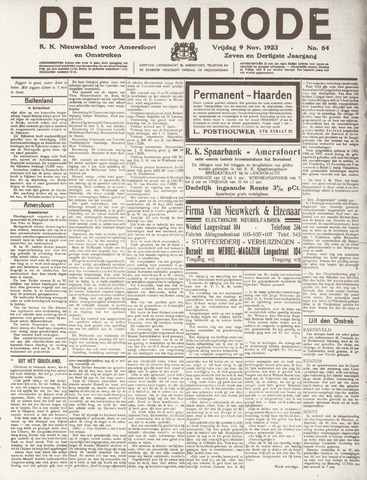 De Eembode 1923-11-09