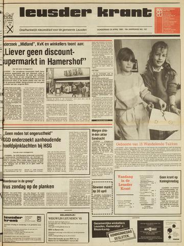 Leusder Krant 1985-04-25