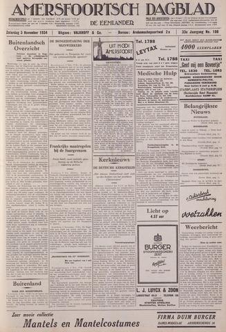 Amersfoortsch Dagblad / De Eemlander 1934-11-03