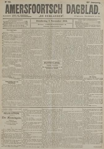 Amersfoortsch Dagblad / De Eemlander 1916-11-09