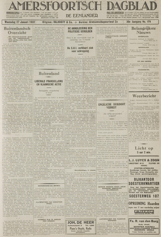 Amersfoortsch Dagblad / De Eemlander 1932-01-27