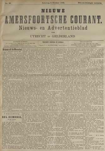 Nieuwe Amersfoortsche Courant 1894-10-06