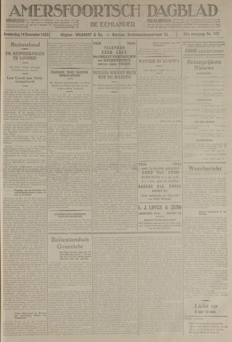 Amersfoortsch Dagblad / De Eemlander 1933-12-14