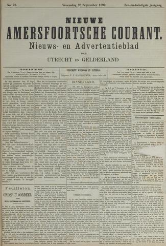 Nieuwe Amersfoortsche Courant 1892-09-28