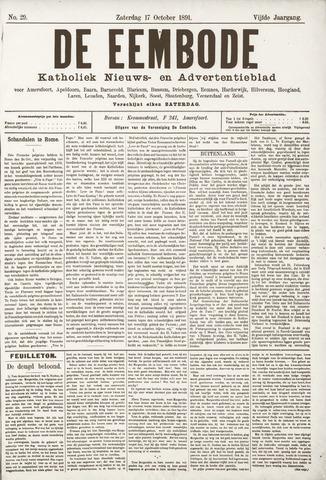 De Eembode 1891-10-17