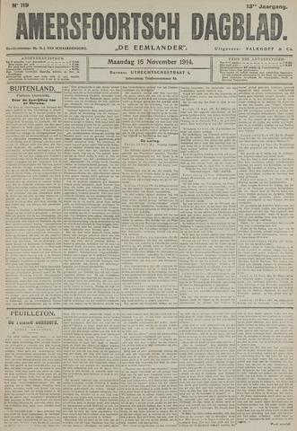 Amersfoortsch Dagblad / De Eemlander 1914-11-16