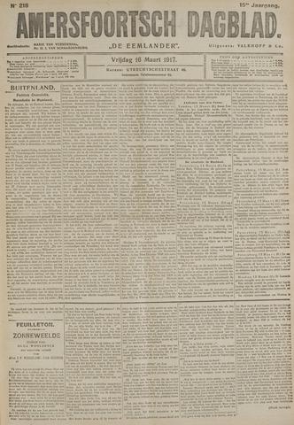 Amersfoortsch Dagblad / De Eemlander 1917-03-16