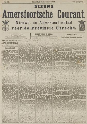 Nieuwe Amersfoortsche Courant 1918-11-02