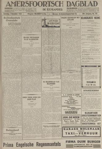 Amersfoortsch Dagblad / De Eemlander 1931-11-07