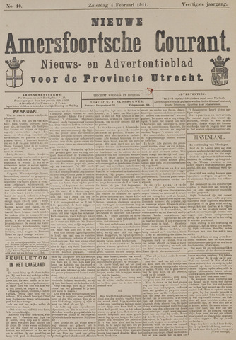 Nieuwe Amersfoortsche Courant 1911-02-04