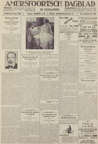 Amersfoortsch Dagblad / De Eemlander 1934-06-28