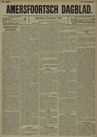 Amersfoortsch Dagblad 1908-11-02