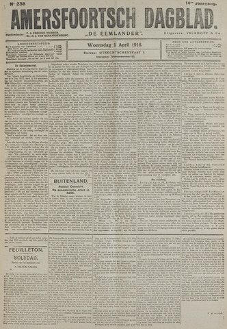 Amersfoortsch Dagblad / De Eemlander 1916-04-05