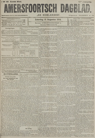 Amersfoortsch Dagblad / De Eemlander 1914-08-15