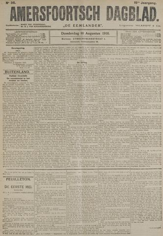 Amersfoortsch Dagblad / De Eemlander 1916-08-10