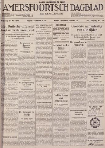 Amersfoortsch Dagblad / De Eemlander 1940-05-22