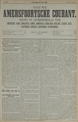 Nieuwe Amersfoortsche Courant 1883-07-25