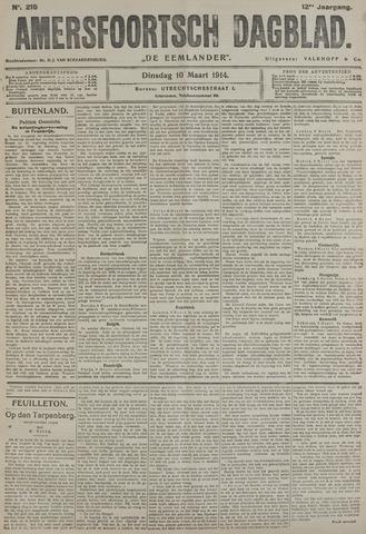 Amersfoortsch Dagblad / De Eemlander 1914-03-10