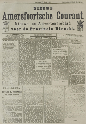 Nieuwe Amersfoortsche Courant 1908-06-27