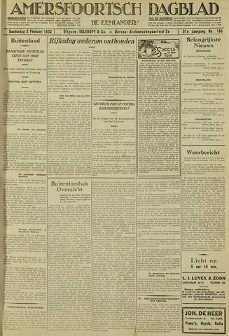 Amersfoortsch Dagblad / De Eemlander 1933-02-02