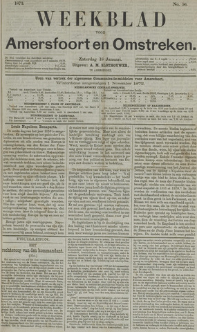 Weekblad voor Amersfoort en Omstreken 1873-01-18