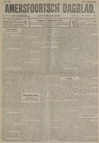 Amersfoortsch Dagblad / De Eemlander 1917-09-21