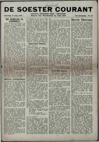 Soester Courant 1945-08-18