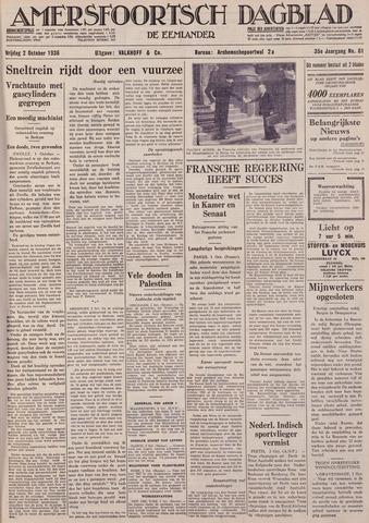 Amersfoortsch Dagblad / De Eemlander 1936-10-02