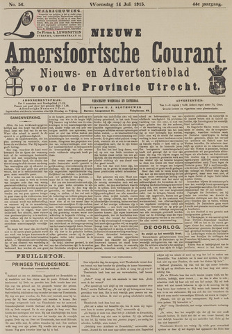 Nieuwe Amersfoortsche Courant 1915-07-14