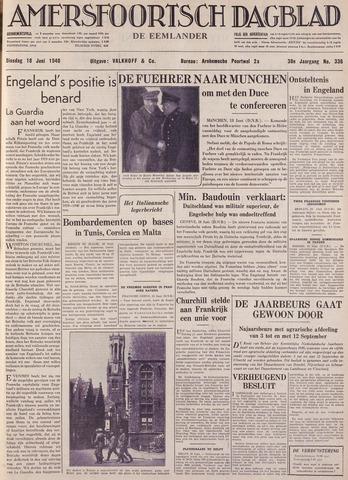 Amersfoortsch Dagblad / De Eemlander 1940-06-18