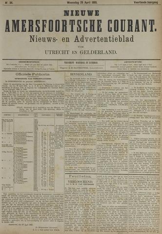 Nieuwe Amersfoortsche Courant 1885-04-29