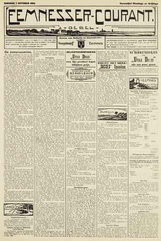 Eemnesser Courant 1924-10-07