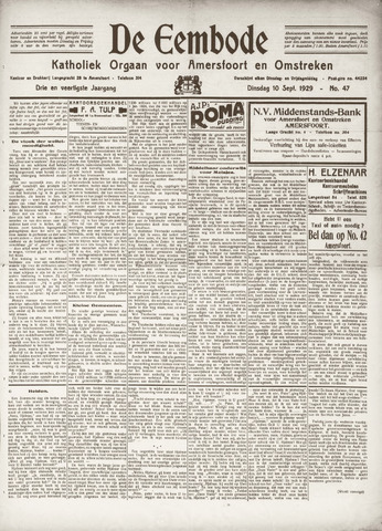 De Eembode 1929-09-10