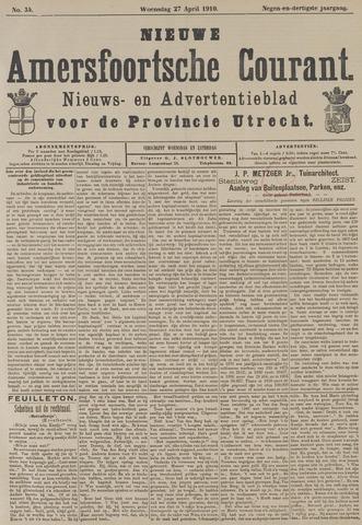 Nieuwe Amersfoortsche Courant 1910-04-27