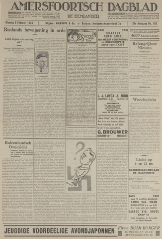 Amersfoortsch Dagblad / De Eemlander 1934-02-06