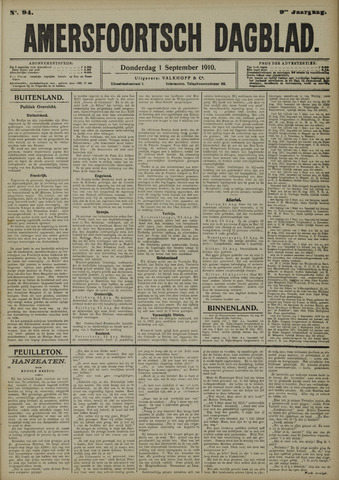 Amersfoortsch Dagblad 1910-09-01