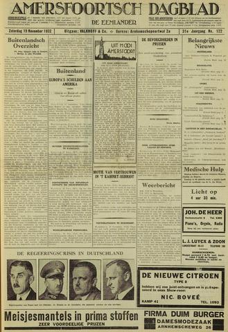 Amersfoortsch Dagblad / De Eemlander 1932-11-19