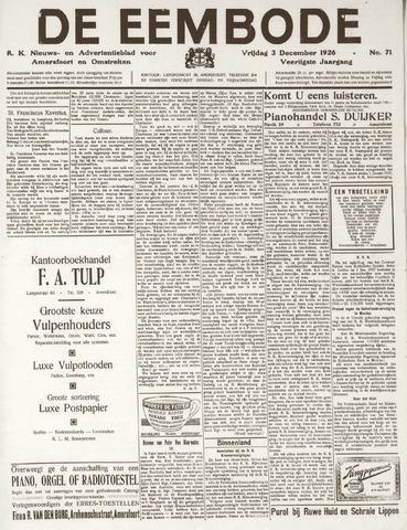 De Eembode 1926-12-03