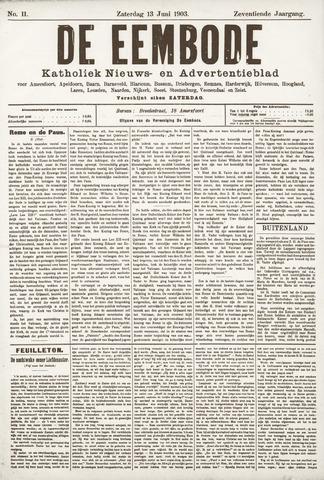 De Eembode 1903-06-13