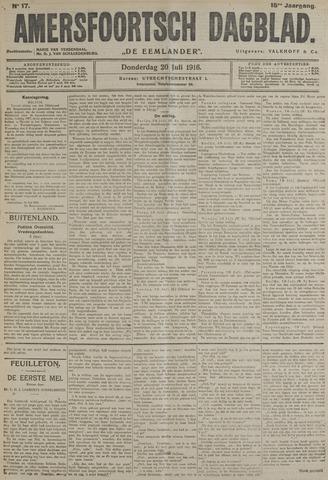 Amersfoortsch Dagblad / De Eemlander 1916-07-20
