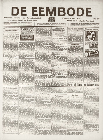 De Eembode 1928-10-19