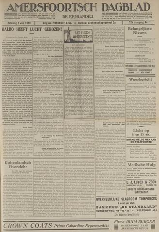 Amersfoortsch Dagblad / De Eemlander 1933-07-01