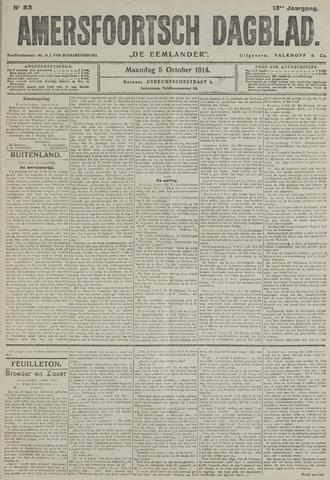 Amersfoortsch Dagblad / De Eemlander 1914-10-05