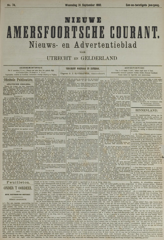 Nieuwe Amersfoortsche Courant 1892-09-14