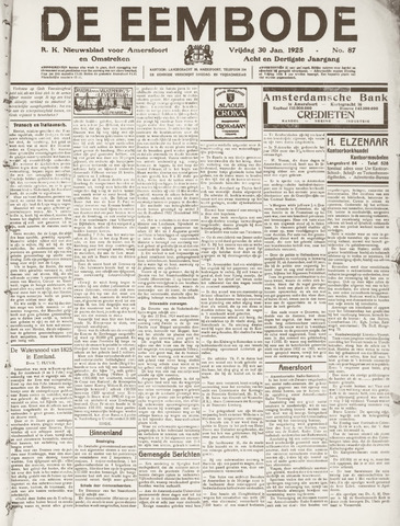 De Eembode 1925-01-30